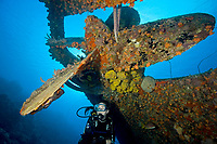 wreck of the Hilma Hooker, Bonaire, Caribbean Sea, Atlantic Ocean, MR