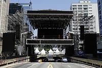 30.12.2019 - Montagem palco Réveillon na av Paulista em SP