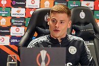 29th September 2021: Warsaw, Poland: UEFA Europa League football, press conference for Leicester City:  Harvey Barnes