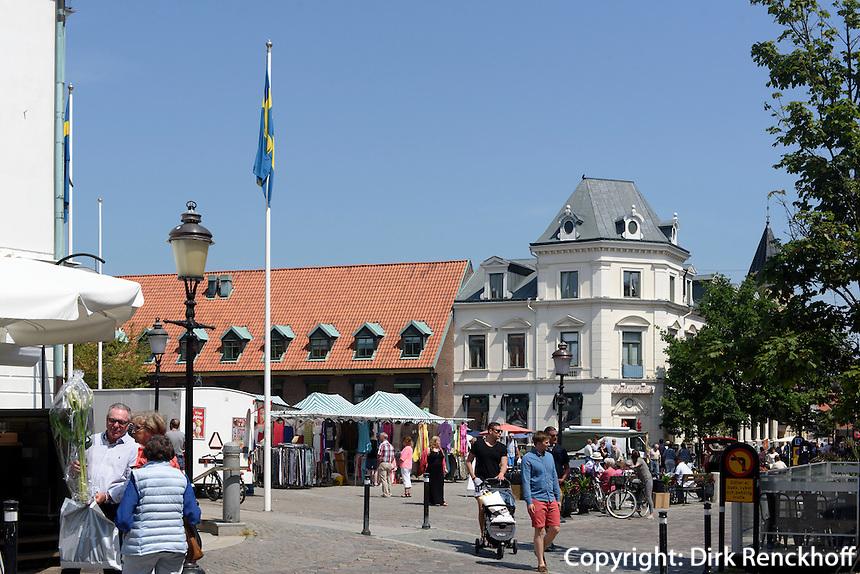 am Stortorget, Ystad, Provinz Skåne (Schonen), Schweden, Europa<br /> Stortorget  in Ystad, Sweden