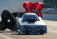 Jul, 9, 2011; Joliet, IL, USA: NHRA funny car driver Cruz Pedregon during qualifying for the Route 66 Nationals at Route 66 Raceway. Mandatory Credit: Mark J. Rebilas-