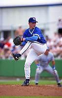 Kansas City Royals pitcher David Cone during Spring Training 1993 at Baseball City Stadium in Davenport, Florida.  (MJA/Four Seam Images)