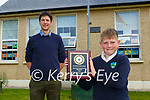 Jamie Cronin who has never missed a day of school was honoured by teacher Diarmuid Coakley in Shrone NS on Tuesday