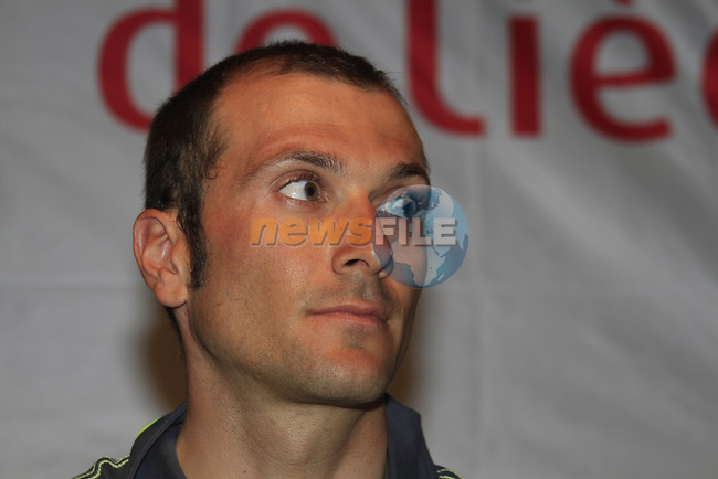 Ivan Basso (ITA) at the Liquigas-Cannondale Team press conference in the Country Hall, Liege, Belgium before the 2012 Tour de France, Liege, Belgium. 28th June 2012.<br /> (Photo by Eoin Clarke/NEWSFILE)