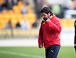 St Johnstone v Dundee…11.03.17     SPFL    McDiarmid Park<br />Paul Hartley turns away from the game<br />Picture by Graeme Hart.<br />Copyright Perthshire Picture Agency<br />Tel: 01738 623350  Mobile: 07990 594431
