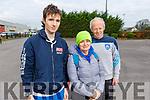Dáire Doyle O'Brien, Caroline Doyle and Frank O'Connor from Tralee warming up for Run Rudolph Run at An Riocht in Castleisland on Sunday.
