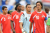 Costa Rica players entering the field.   Honduras defeated Costa Rica in Penalty Kick 4-2 in the quaterfinals for the 2011 CONCACAF Gold Cup , at the New Meadowlands Stadium, Saturday June 18, 2011.