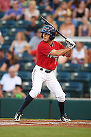Fort Myers Miracle outfielder Zach Granite (1) at bat during a game against the Daytona Tortugas on June 17, 2015 at Hammond Stadium in Fort Myers, Florida.  Fort Myers defeated Daytona 9-5.  (Mike Janes/Four Seam Images)