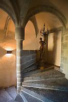 """Europe/France/Auvergne/43/Haute-Loire/Saint-Arcons-d'Allier:Hotel de Charme """"Les Deux Abesses"""" détail d'un escalier de l'hotel"""