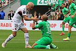AS SAINT-ETIENNE vs FC LORIENT Football Match Ligue 1 Uber Eats. Saint-Etienne, France on August 8, 2021. In action  left Fabien Lemoine and Wahbi Khazri