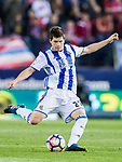 Igor Zubeldia Elorza of Real Sociedad in action during their La Liga match between Atletico de Madrid vs Real Sociedad at the Vicente Calderon Stadium on 04 April 2017 in Madrid, Spain. Photo by Diego Gonzalez Souto / Power Sport Images