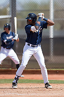 Milwaukee Brewers first baseman Ernesto Wilson Martinez (97) during a Minor League Spring Training game against the Kansas City Royals at Maryvale Baseball Park on March 25, 2018 in Phoenix, Arizona. (Zachary Lucy/Four Seam Images)