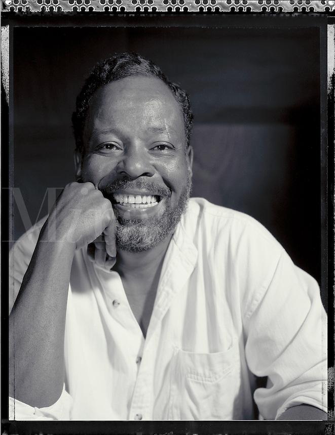 Black & white portrait of Cornell Marigney. Atlanta, Georgia.