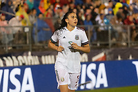 EAST HARTFORD, CT - JULY 1: Jimena Lopez #5 of Mexico during a game between Mexico and USWNT at Rentschler Field on July 1, 2021 in East Hartford, Connecticut.