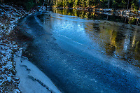 Ice on the Ausable River in the Adirondack Mountains of New York State