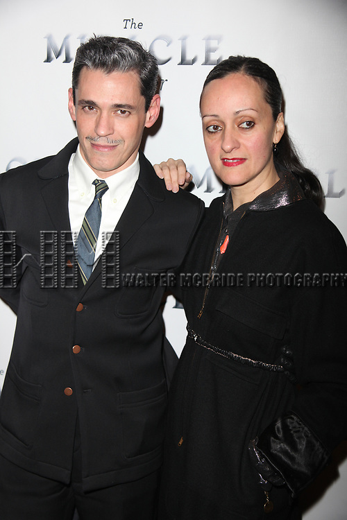 "Ruben Toledo and Isabel Toledo attending the Broadway Opening Night Performance of ""THE MIRACLE WORKER"" at Circle in the Square Theatre in New York City. March 3, 2010"