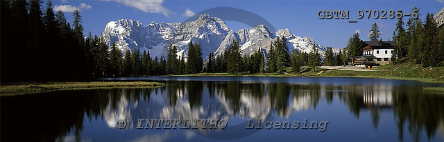 Tom Mackie, LANDSCAPES, panoramic, photos, The Dolomites & Lake Antorno, Italy, GBTM970285-6,#L#