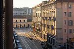 Milano,18 marzo 2020, dalla mia finestra di via Vigevano, la via della Movida è deserta, from my window,Movida street