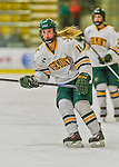 14 February 2015: University of Vermont Catamount Forward Cassidy Campeau, a Sophomore from Nepean, Ontario, in first period action against the University of New Hampshire Wildcats at Gutterson Fieldhouse in Burlington, Vermont. The Lady Catamounts rallied from a 3-1 deficit to earn a 3-3 tie in the final home game of their NCAA Hockey East season. Mandatory Credit: Ed Wolfstein Photo *** RAW (NEF) Image File Available ***