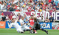 USA's Tim Howard tries to stop a goal by Turkey's Arda Turan international friendly tune up match against Turkey for the 2010 World Cup, at Lincoln Financial Field, in Philadelphia, PA, Saturday, May 29, 2010. USA defeated Turkey 2-1.