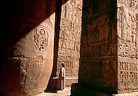 Hieroglyphics at Medinat Habu Mortuary Temple of Ramses III Luxor West Bank Egypt