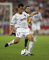 30 October,  2004.   MetroStars defender Craig Ziadie (21) takes a shot during the 2004 MLS playoffs at RFK Stadium in Washington, DC.