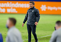 CARSON, CA - OCTOBER 18: Guillermo Barros Schelotto head coach of the Los Angeles Galaxy during a game between Vancouver Whitecaps and Los Angeles Galaxy at Dignity Heath Sports Park on October 18, 2020 in Carson, California.