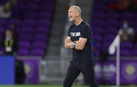ORLANDO CITY, FL - JANUARY 31: Gregg Berhalter head coach of the United States during a game between Trinidad and Tobago and USMNT at Exploria stadium on January 31, 2021 in Orlando City, Florida.