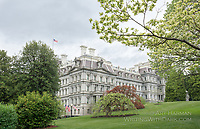 """A Different Angle on the Old Executive Office Building""""--the Eisenhower Building by Art Harman. I shot this view of OEOB from the South Lawn of the White House, offering view the public can't see. Many White House staff work in the OEOB, which is a masterpiece of Victorian design inside and out."""