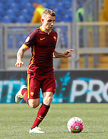 Calcio, Serie A: Lazio vs Roma. Roma, stadio Olimpico, 3 aprile 2016.<br /> Roma's Lucas Digne during the Italian Serie A football match between Lazio and Roma at Rome's Olympic stadium, 3 April 2016.<br /> UPDATE IMAGES PRESS/Riccardo De Luca