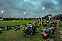 Fans on the embankment during day three of the second International Test Cricket match between the New Zealand Black Caps and Pakistan at Hagley Oval in Christchurch, New Zealand on Tuesday, 5 January 2021. Photo: Dave Lintott / lintottphoto.co.nz