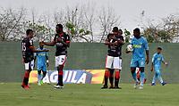 ENVIGADO- COLOMBIA -21-02-2019: Los jugadores de Cúcuta Deportivo celebran el gol anotado al Jaguares F. C., durante partido entre Jaguares F. C. y Cúcuta Deportivo de la fecha 6 por la Liga Águila I 2019, en el estadio Jaraguay de Montería de la ciudad de Montería. / The players of Cucuta Deportivo  celebrate a scored goal to Jaguares F. C., during a match between Jaguares F. C., and Cucuta Deportivo, of the 6th date for the Leguaje Aguila I 2019 at Jaraguay de Montería Stadium in Monteria city. Photo: VizzorImage / Andrés López  / Cont.