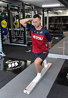 Swansea City Erwin Mulder in the gym on their first day back for pre season.
