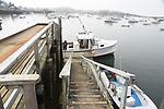 Dock and lobster boat in Carver's harbor.