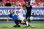 Bayern Munich Forward Kingsley Coman (R) fights for the ball with FC Internazionale Forward Jonathan Biabiany (L) during the International Champions Cup match between FC Bayern and FC Internazionale at National Stadium on July 27, 2017 in Singapore. Photo by Marcio Rodrigo Machado / Power Sport Images