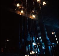 C.R. Mackintosh: Glasgow School of Art--Light fittings in Library. (Photo '87)
