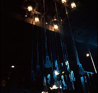 C.R. Mackintosh: Glasgow School of Art--Light fittings in Library. (Photo '87)