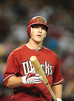 Jun. 9, 2010; Phoenix, AZ, USA; Arizona Diamondbacks shortstop Stephen Drew against the Atlanta Braves at Chase Field. Mandatory Credit: Mark J. Rebilas-