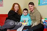 Christopher Lynch from Tralee was hand-picked by Over The Moon Books to review their childrens books and Chris has also started recording himself reading books for other kids to enjoy. Lisa Curran with her son Christopher Lynch and partner David Dillane.