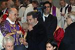 ROMANO PRODI<br /> FUNERALI DI CHIARA LUBICH <br /> SAN PAOLO FUORI LE MURA ROMA 2008