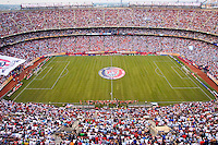 """The """"Don't Tread on Me"""" banner is unfurled in the west end of the stadium prior to the match. The men's national teams of the United States and Argentina played to a 0-0 tie during an international friendly at Giants Stadium in East Rutherford, NJ, on June 8, 2008."""