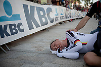 Lisa Brennauer (DEU/Ceratizit-WNT) completely spent post-finish, but setting a World Champion Time<br /> <br /> Mixed Relay TTT <br /> Team Time Trial from Knokke-Heist to Bruges (44.5km)<br /> <br /> UCI Road World Championships - Flanders Belgium 2021<br /> <br /> ©kramon