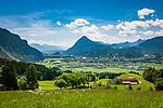 Oesterreich, Tirol, Inntal - Unterland, Blick ueber Oberndorf ins Inntal | Austria, Tyrol, Kaiserwinkl, Walchsee: holiday resort at Lake Walchsee beneath Zahmer Kaiser mountain