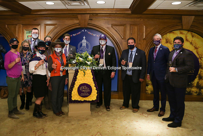 November 6, 2020 : Champion's Terrace after the Juvenile Turf presented by Coolmore America on Breeders' Cup Championship Friday at Keeneland Race Course in Lexington, Kentucky on November 6, 2020. Ryan Denver/Eclipse Sportswire/Breeders' Cup/CSM