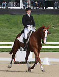 April 24, 2014: Bellaney Rock and Selena O'Hanlon the first day of Dressage at the Rolex Three Day Event in Lexington, KY at the Kentucky Horse Park.  Candice Chavez/ESW/CSM