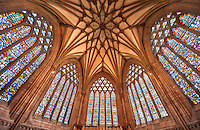Interior of the the medieval Wells Cathedral built in the Early English Gothic style in 1175, Wells Somerset, England