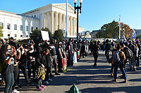 """Washington, DC - November 14, 2020: Anti-Trump protesters gather near the U.S. Supreme Court after the """"Stop The Steal"""" rally in support of President Trump  November 14, 2020.  (Photo by Don Baxter/Media Images International)"""
