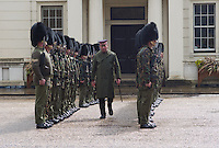 F Company, Scots Guards outside of the Guards Museum, London, England