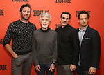 Armie Hammer,Tom Skerritt, Paul Schneider and Josh Charles attends photo call for the Second Stage Theatre Company production of 'Straight White Men'  at Sardi's on June 14 30, 2018 in New York City.
