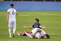 SAN JOSE, CA - OCTOBER 28: Andy Rios #25 of the San Jose Earthquakes during a game between Real Salt Lake and San Jose Earthquakes at Earthquakes Stadium on October 28, 2020 in San Jose, California.